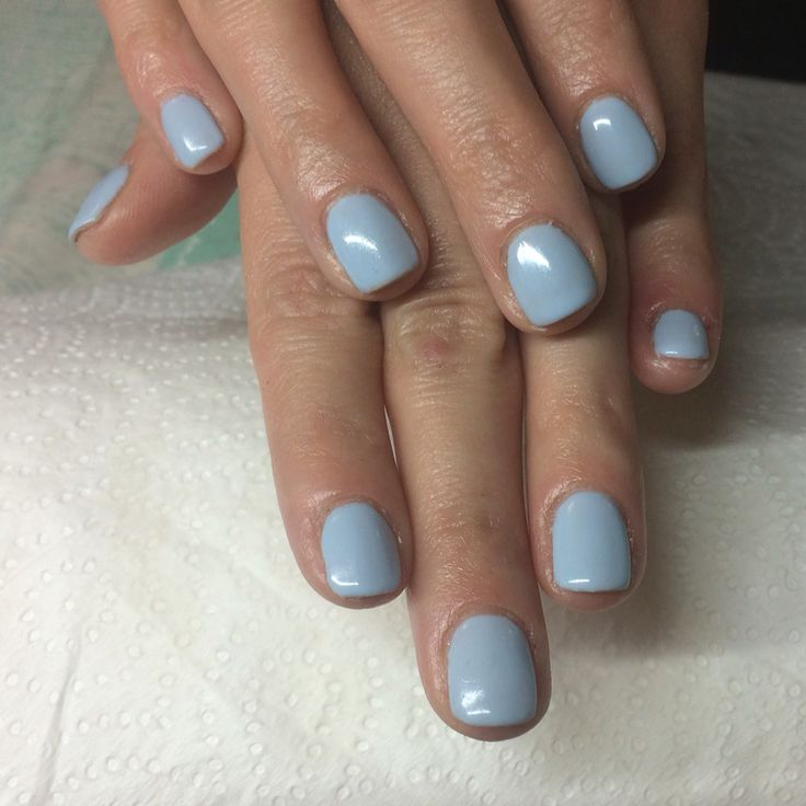 Blue shellac nails
