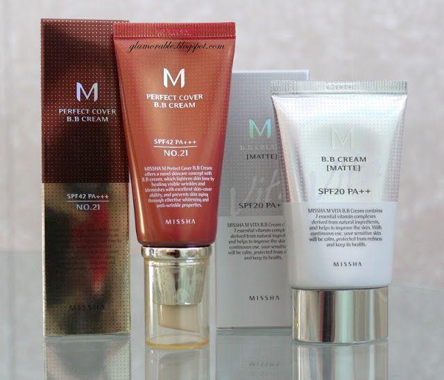Missha Perfect Cover BB Cream #21 & Vita Matte BB Cream (One Color) Review | Glamorable!