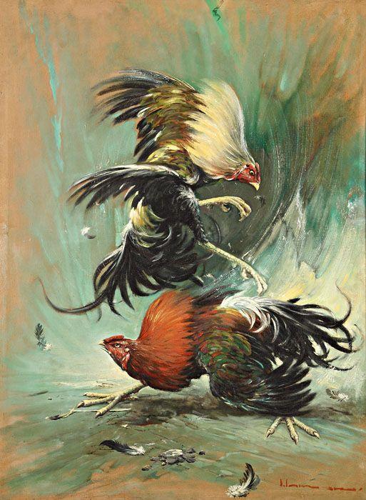 Saiman Dullah (Tuban, East Java, 1954) - Cock Fight