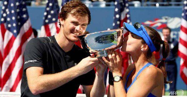 Jamie Murray, Hingis add US Open to Wimbledon title ... NEW YORK: Top seeds Jamie Murray and Martina Hingis won their second successive Grand Slam mixed doubles title on Saturday (Sep 9) -- defeating Michael Venus and Hao-Ching Chan, 6-1, 4-6, [10-8]....  channelnewsasia.com