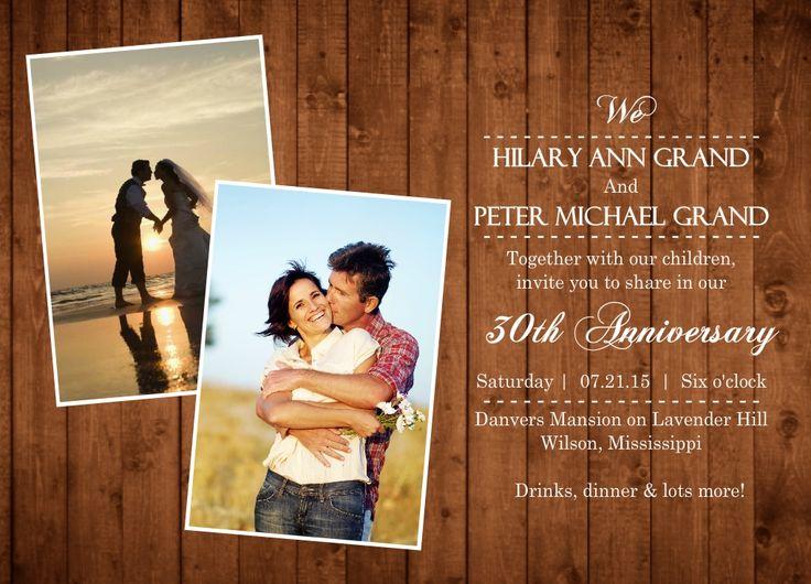 30th Wedding Anniversary Invitation By InviteShop.com