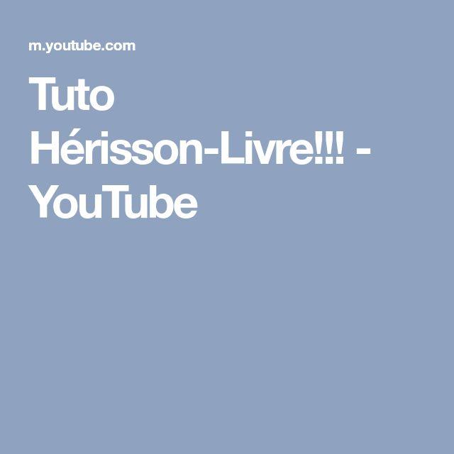Tuto Hérisson-Livre!!! - YouTube