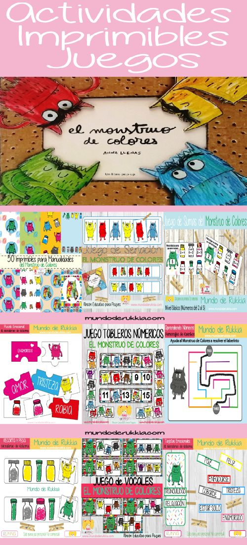monstruo de colores, monstruo de colores actividades, monstruo de colores juegos, monstruo de colores cuento, monstruo de colores manualidades, the color monster, the colour monster, educacion emocional, inteligencia emocional