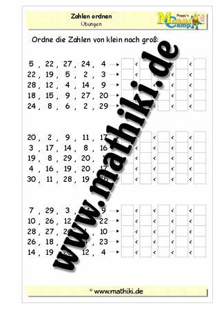 Zahlen ordnen bis 30 - www.mathiki.de - Ihre Matheseite im Internet #math…