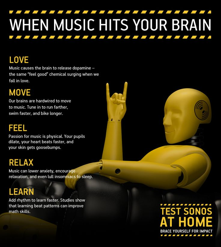 Your brain on music: A few benefits of all the music on Earth... #music #infographic