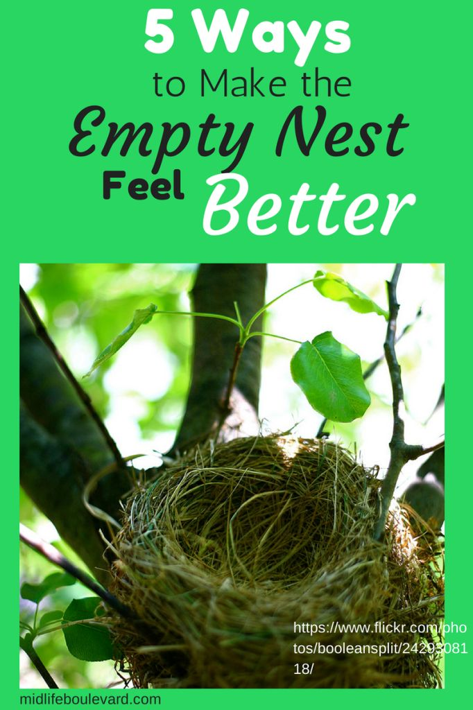 5 Very Practical Ways to Feel Better in the Empty Nest - with some help from bloggers Sharon Greenthal and Lisa Heffernan