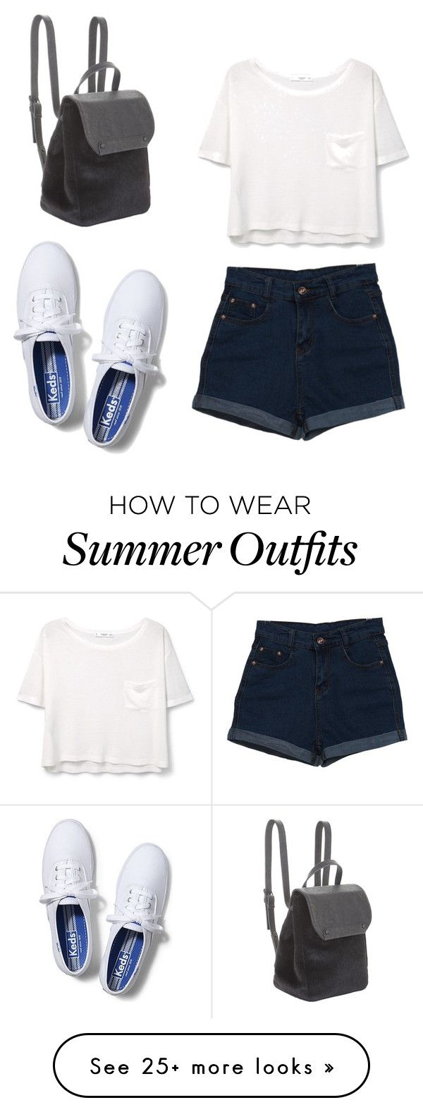 """Summer outfit"" by liza-ionova on Polyvore featuring MANGO, Keds and BCBGeneration"