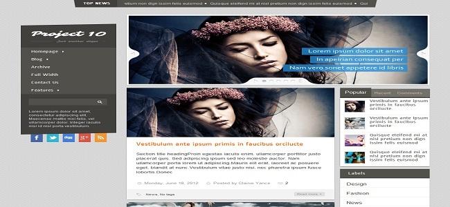 Project 10 Blogger Template - Best Blogger Templates | Premium Wordpress | New Blogger Themes