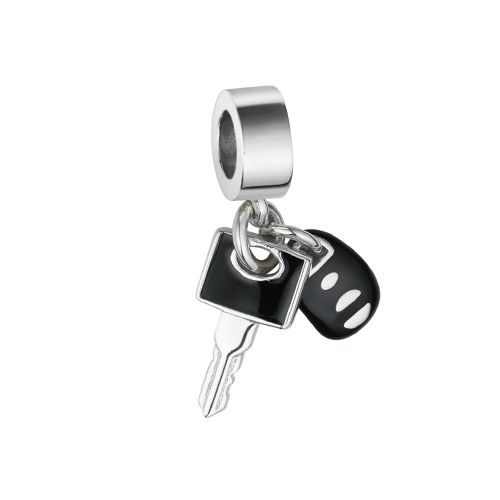Pingente chave de carro esmaltado em prata 925 - Life by Vivara