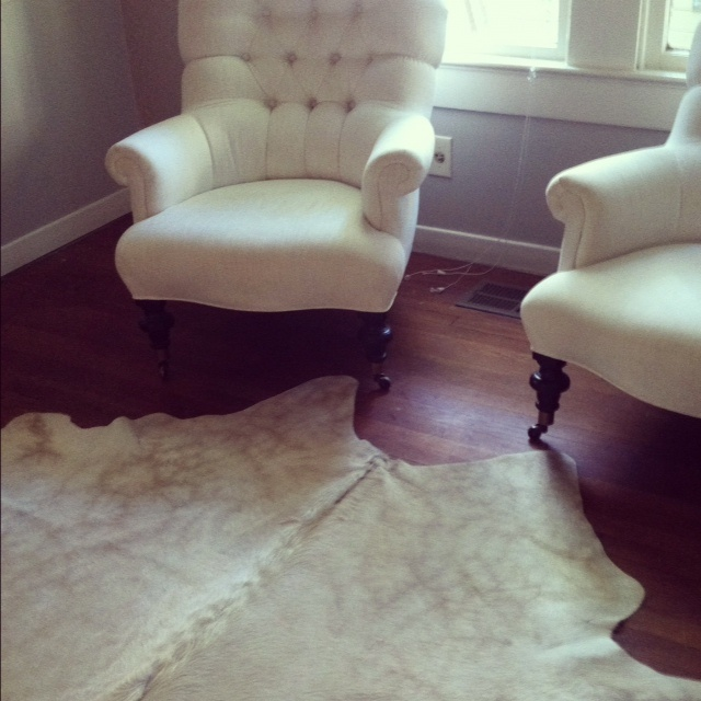 tufted chairs are out of hiding!