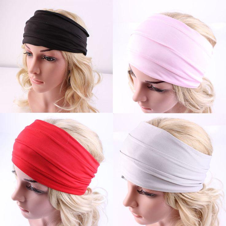 1 ST Vrouwen Haaraccessoires Brede Hoofdband Stretch Haarband Elastische Haarband Tulband Running Dance Biker Headwrap