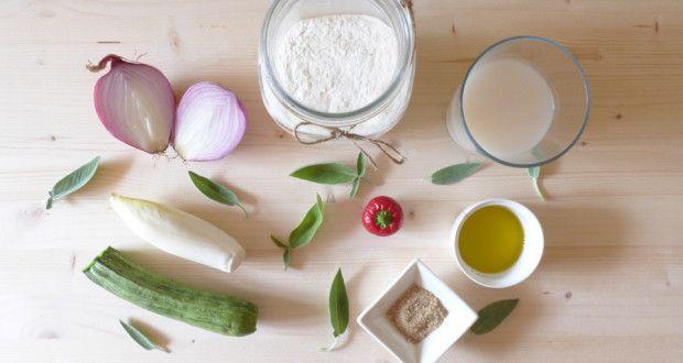 Focaccia ripiena di verdure con pasta madre
