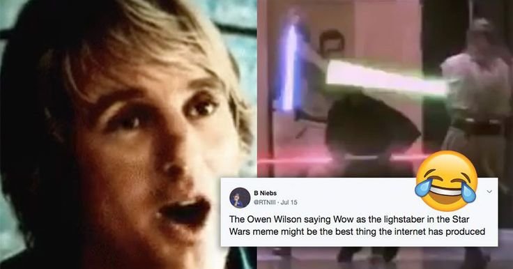 Man replaces lightsaber sound with Owen Wilson saying 'wow' and it's pure genius