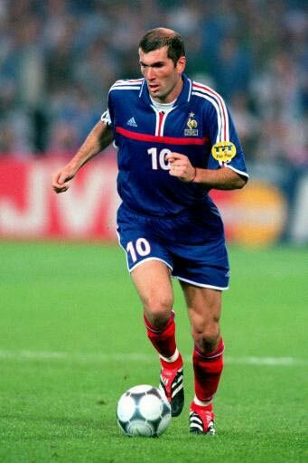 Zinedine Zidane of France in action at the 1998 World Cup Finals.