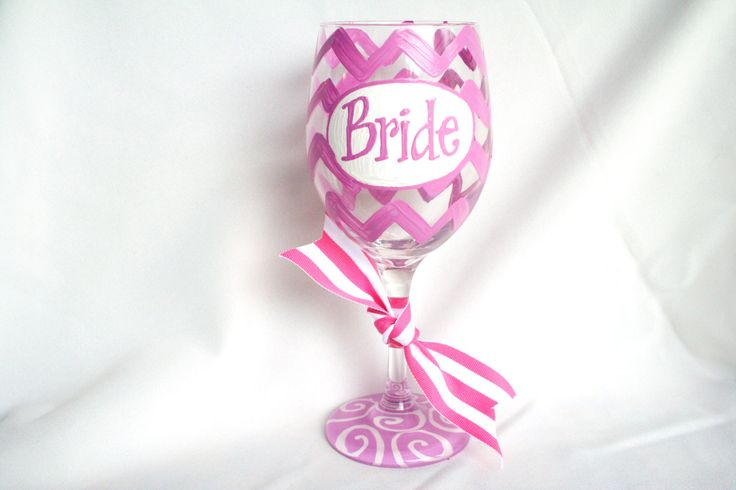 bachelorette painted wine glass - Google Search