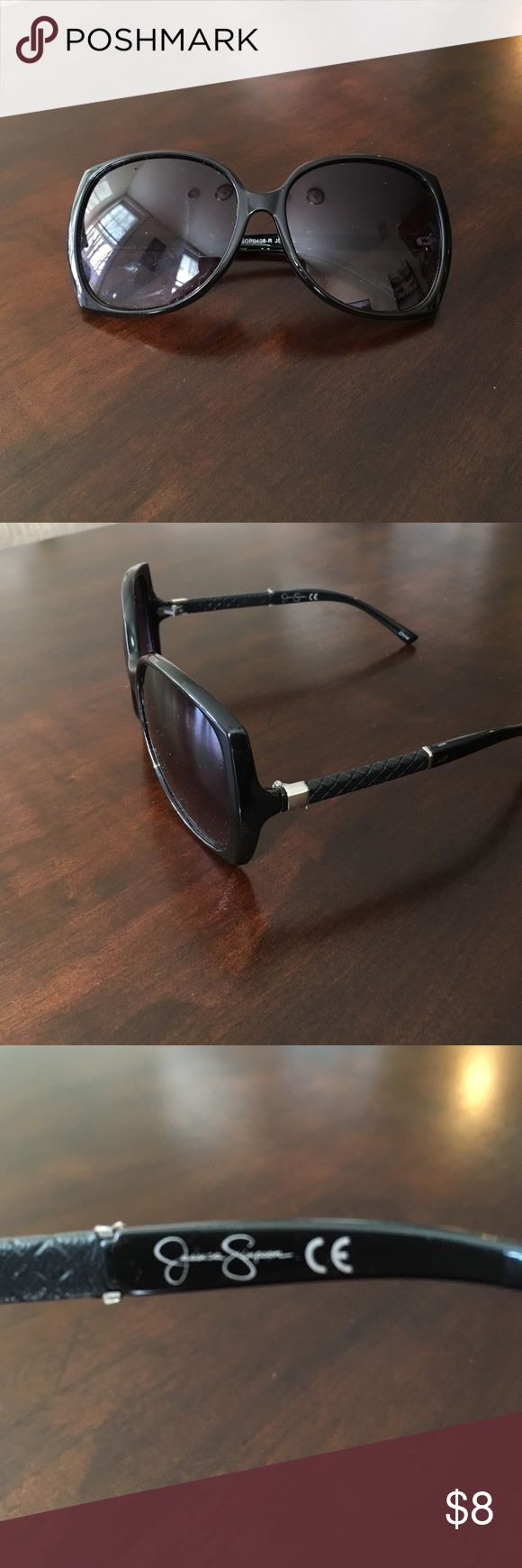 Jessica Simpson Sunglasses Black sunglasses with gold accents from Jessica Simpson. Great condition! 💕 Jessica Simpson Accessories Glasses