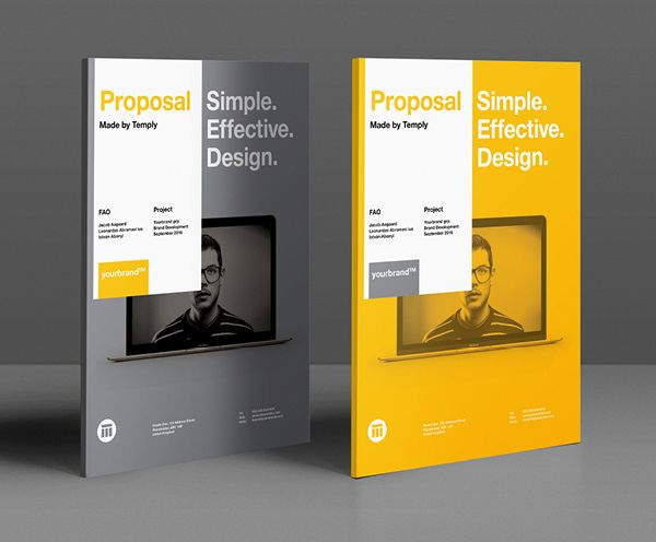 Best Proposals Images On   Brochure Design Brochure