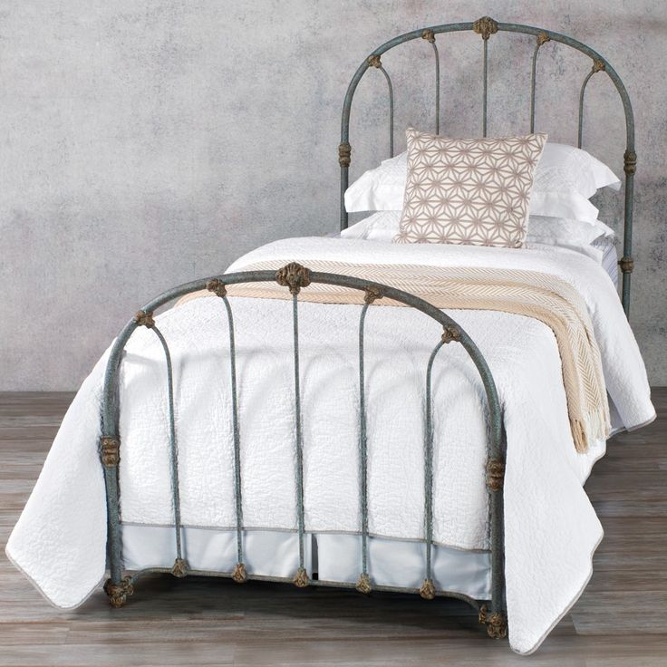 Taylor Iron Trundle Bed by Wesley Allen - Textured Blue Finish
