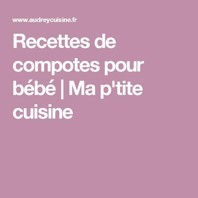 Recettes de compotes pour bébé | Ma p'tite cuisine