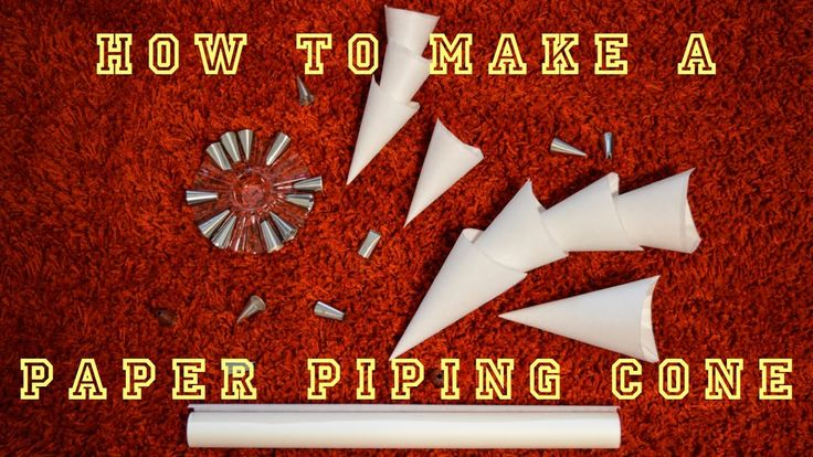 How to make a Parchment Paper Piping Cone - easy and quick!