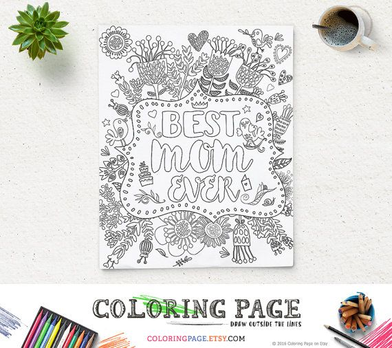 Coloring Page Printable Quote Mother's Day Best par ColoringPage