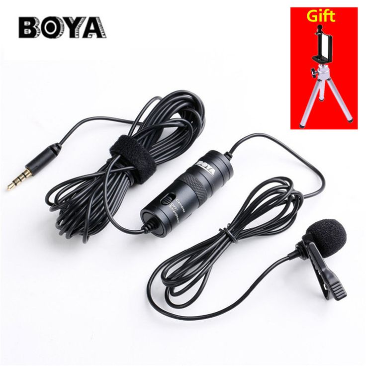 BOYA BY-M1 Omnidirectional Camera Lavalier Condenser Microphone for DSLR Canon Nikon Sony iPhone 7 6S Camcorder Audio Recorder