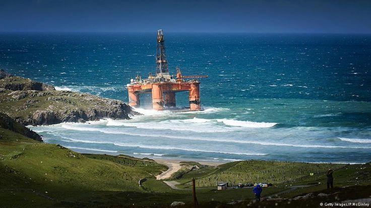Global Ideas Bild der Woche KW 32 Ölbohrinsel gestrandet Großbritannien
