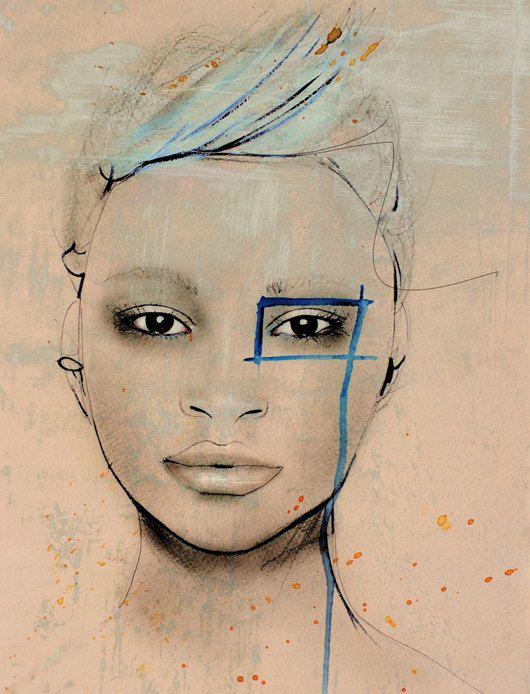 Fashion Illustration Art by LeighViner