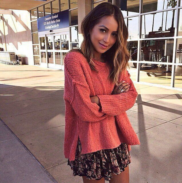 Fashion Asymmetric Scoop Knit Solid Color Sweater