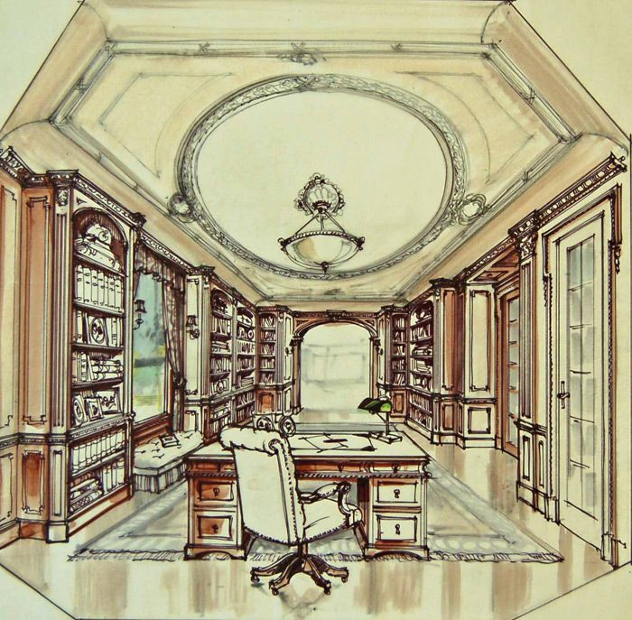 Custom Home Builders Sketches