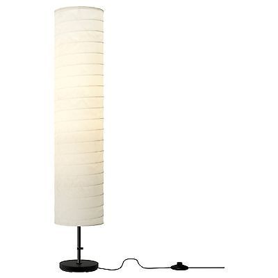 BRAND NEW IKEA HOLMO FLOOR LAMP LIGHT WHITE RICE PAPER SHADE MODERN CONTEMPORARY