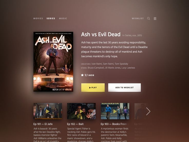 Daily UI challenge #025 — TV App