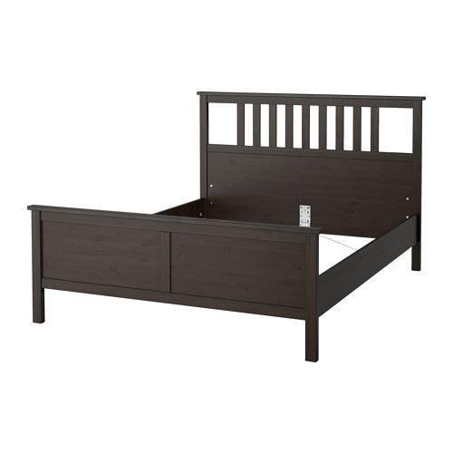 hemnes bed frame black brown lur y standard double hemnes and bed frames. Black Bedroom Furniture Sets. Home Design Ideas