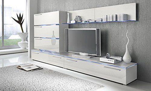 Liren White - Contemporary Wall Unit / European Entertainment Center / Design Furniture with LED Lights (White) Concept Muebles http://www.amazon.com/dp/B013TG5FJ2/ref=cm_sw_r_pi_dp_Ibl5wb1CB1SPY