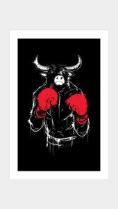 RAGING BULL Art Prints
