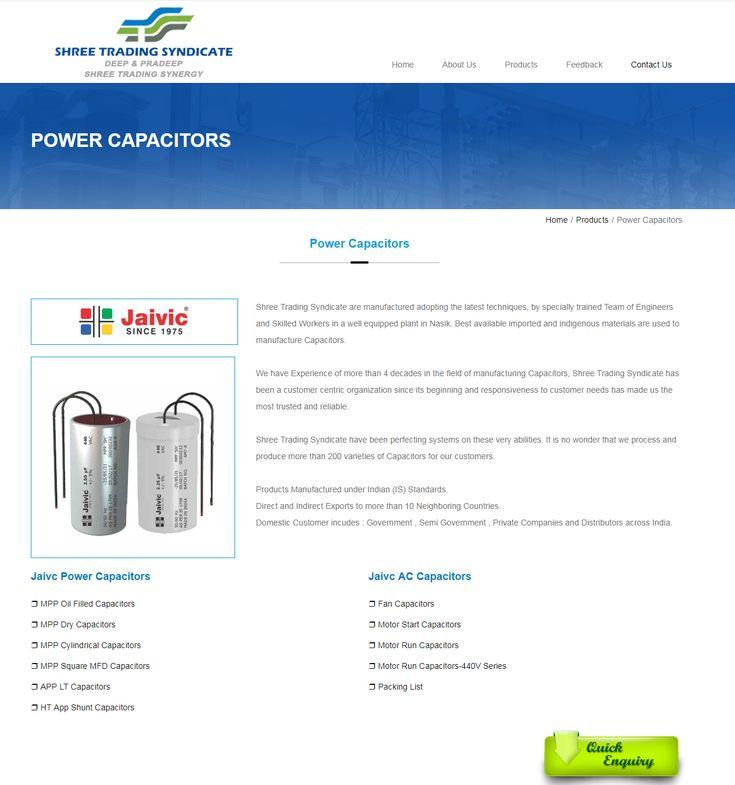 Jaivic Power Capacitor Jaivic Ac Capacitors Ht App Shunt Capacitor Mumbai India Capacitors Power Ac Capacitor