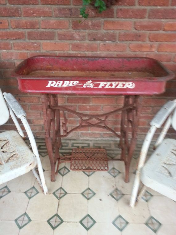Vintage Wagon Table by gardenmarketplace on Etsy, $125.00