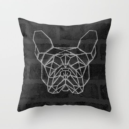 French Bulldog Throw Pillow. #geometric #french #bulldog