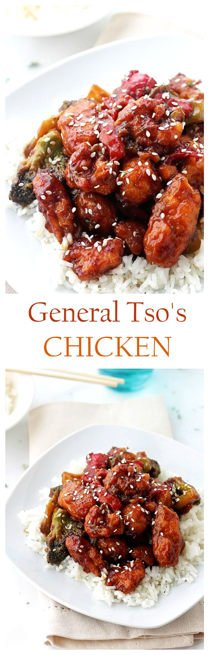 Spicy, sweet, tender, and delicious recipe for Homemade General Tso's Chicken! @diethood