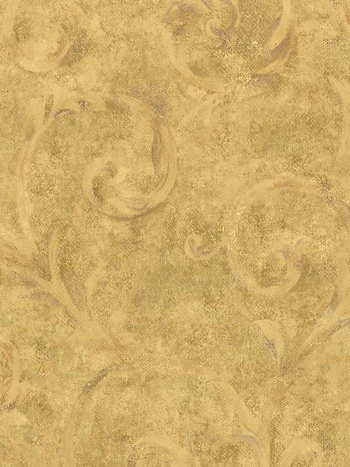 Tuscan Patterns Formal Faux Gold Tuscany Wallpaper
