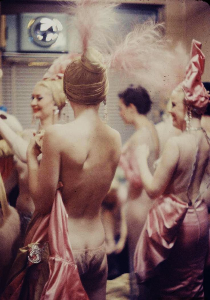 Backstage at the Latin Quarter, 1958  Photo by Gordon Parks