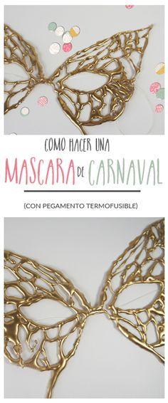 Cómo hacer una máscara tipo encaje para carnaval (con pegamento termofusible)