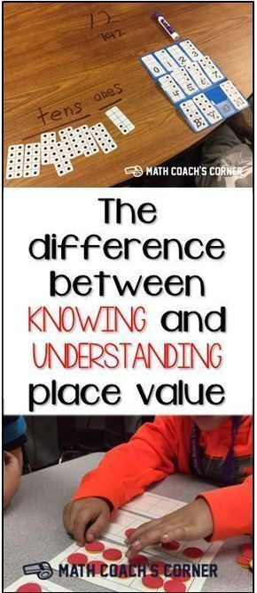 The Difference Between Knowing and Understanding Place Value There is a big diff…