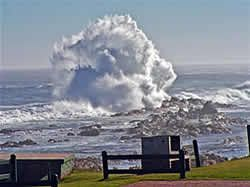 Tsitsikamma National Park, where the Indian Ocean meets the mouth of the Storms River, two hours from Port Elizabeth, South Africa.