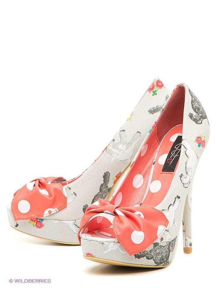 Туфли IRON FIST. Цвет серый. Великолепные туфли с открытым мыском на высоком каблуке - интернет-магазин Wildberries.ru