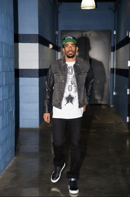Mike Conley wearing Marcelo Burlon - County of Milan
