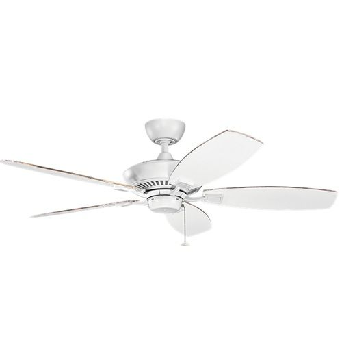 BED 2 & BED 3 FANS: KK300117 MWH Canfield Large Fan (52'' to 59'') Ceiling Fan - Matte White at FergusonShowrooms.com
