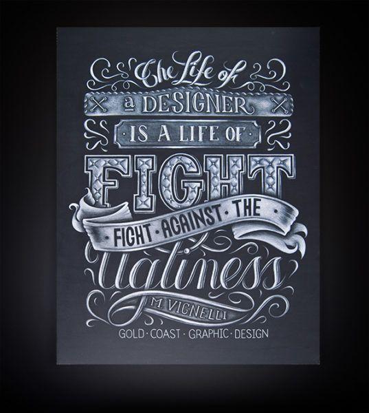 chalkboard design life of a designer vignelli
