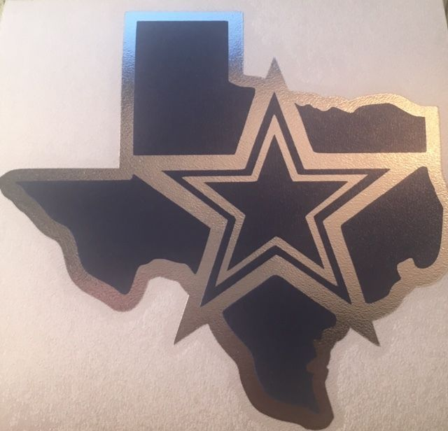 Chrome and Navy Blue Dallas Cowboys Decal For Your Yeti Rambler Tumbler Colster  #CustomMade