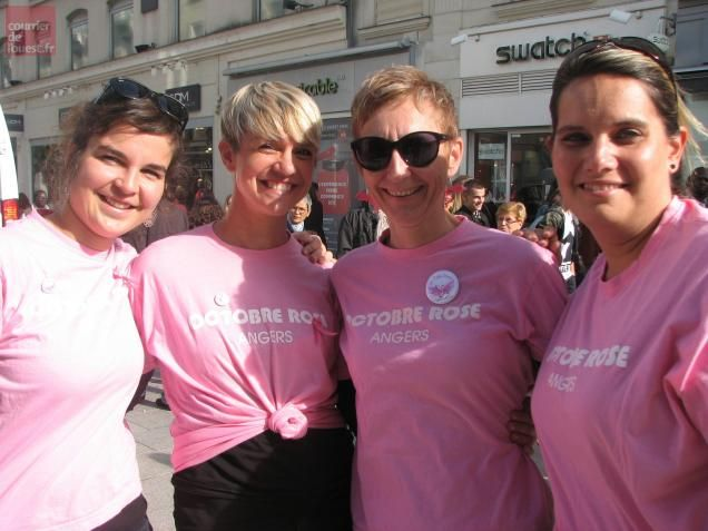 Angers. Nathalie, Caroline, Anne et Audrey ont créé l'association Les Z'elles roses.
